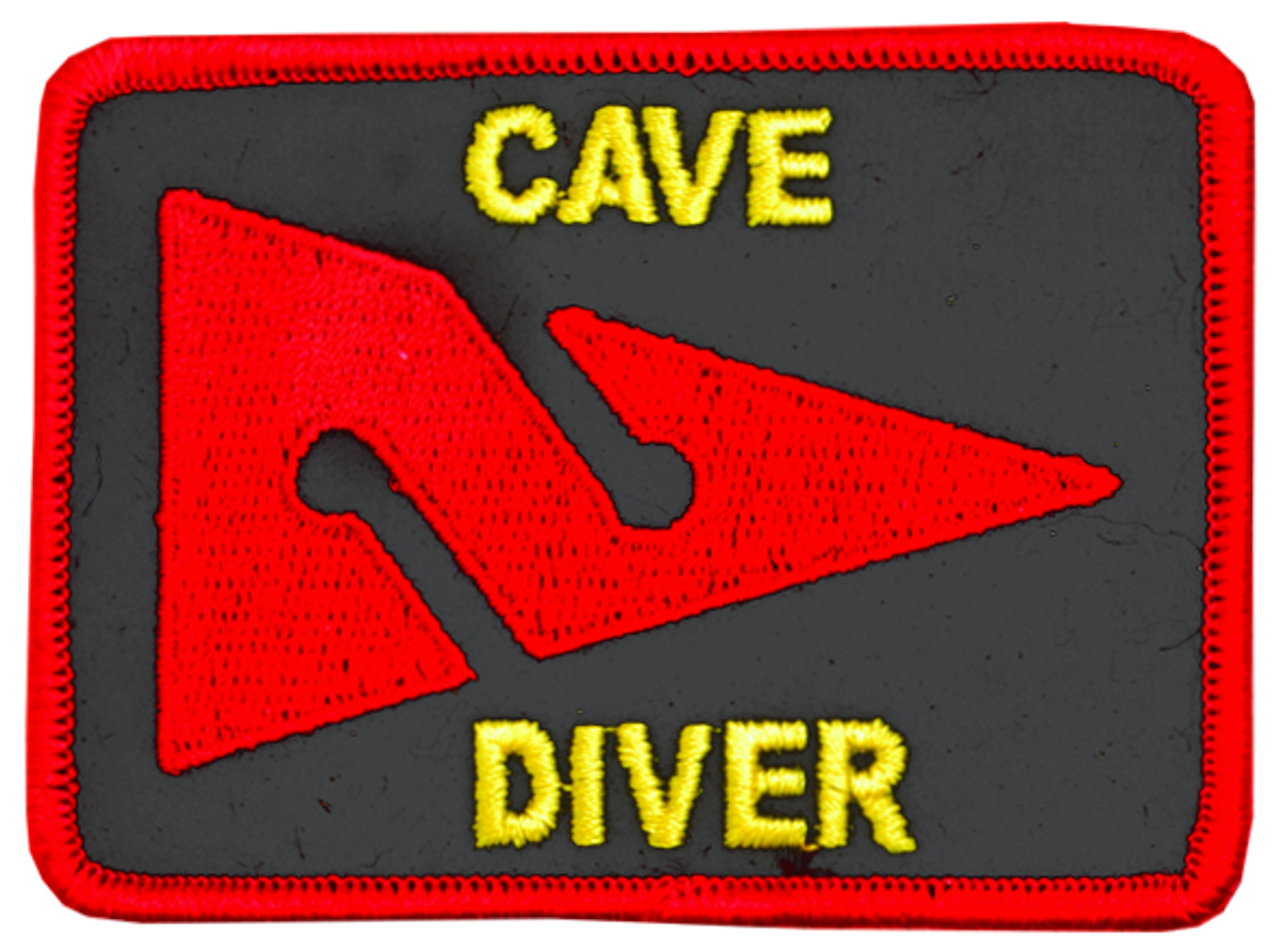 Innovative Emroidered Cave Diver Patch