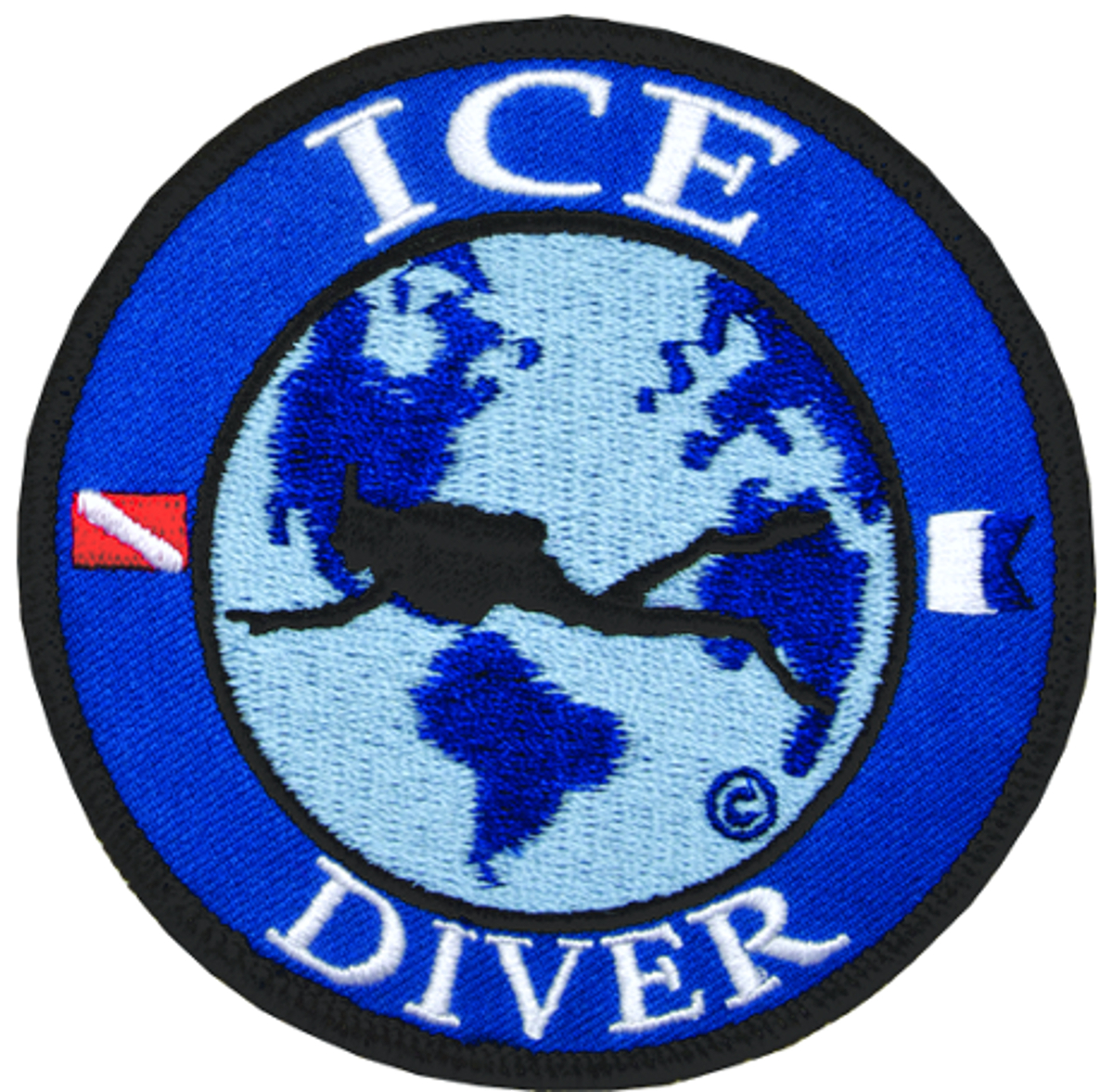 Innovative Emroidered Ice Diver Patch