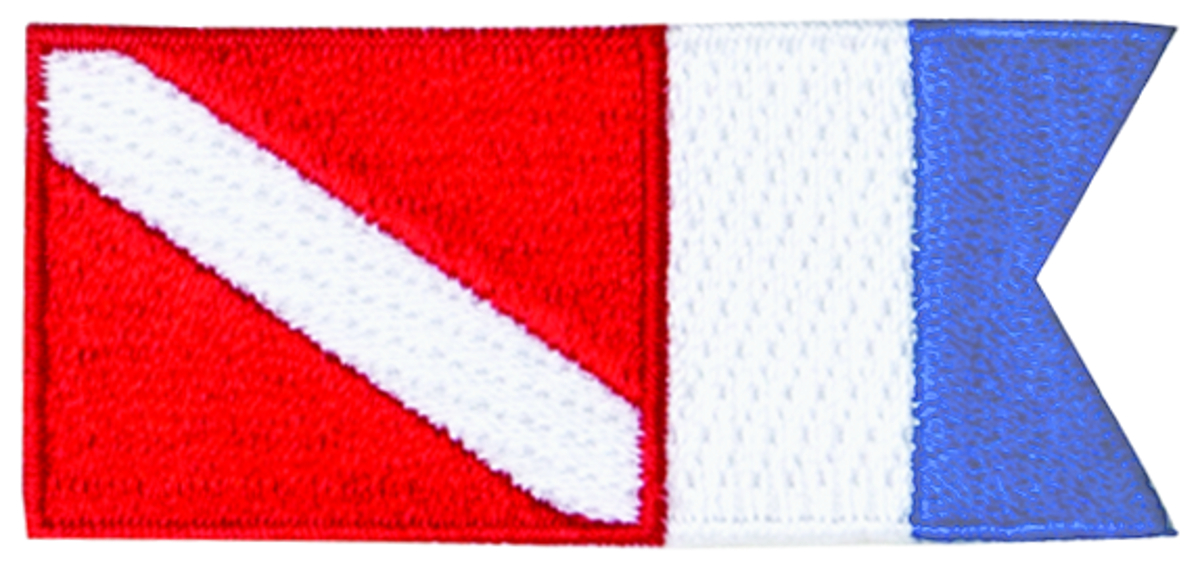 Innovative Emroidered Diver Down Alpha Flag Patch