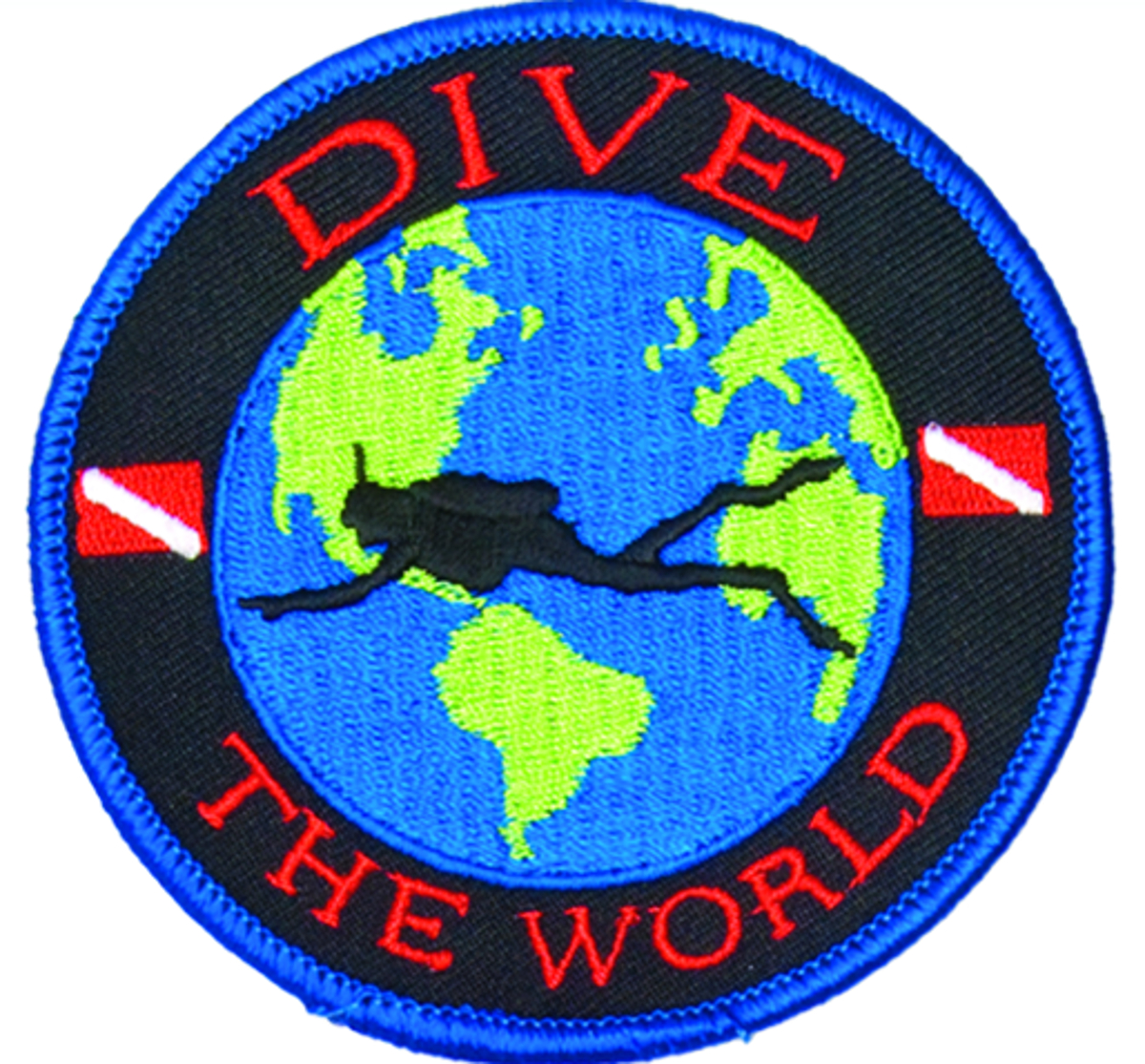 Innovative Emroidered Dive The World Patch