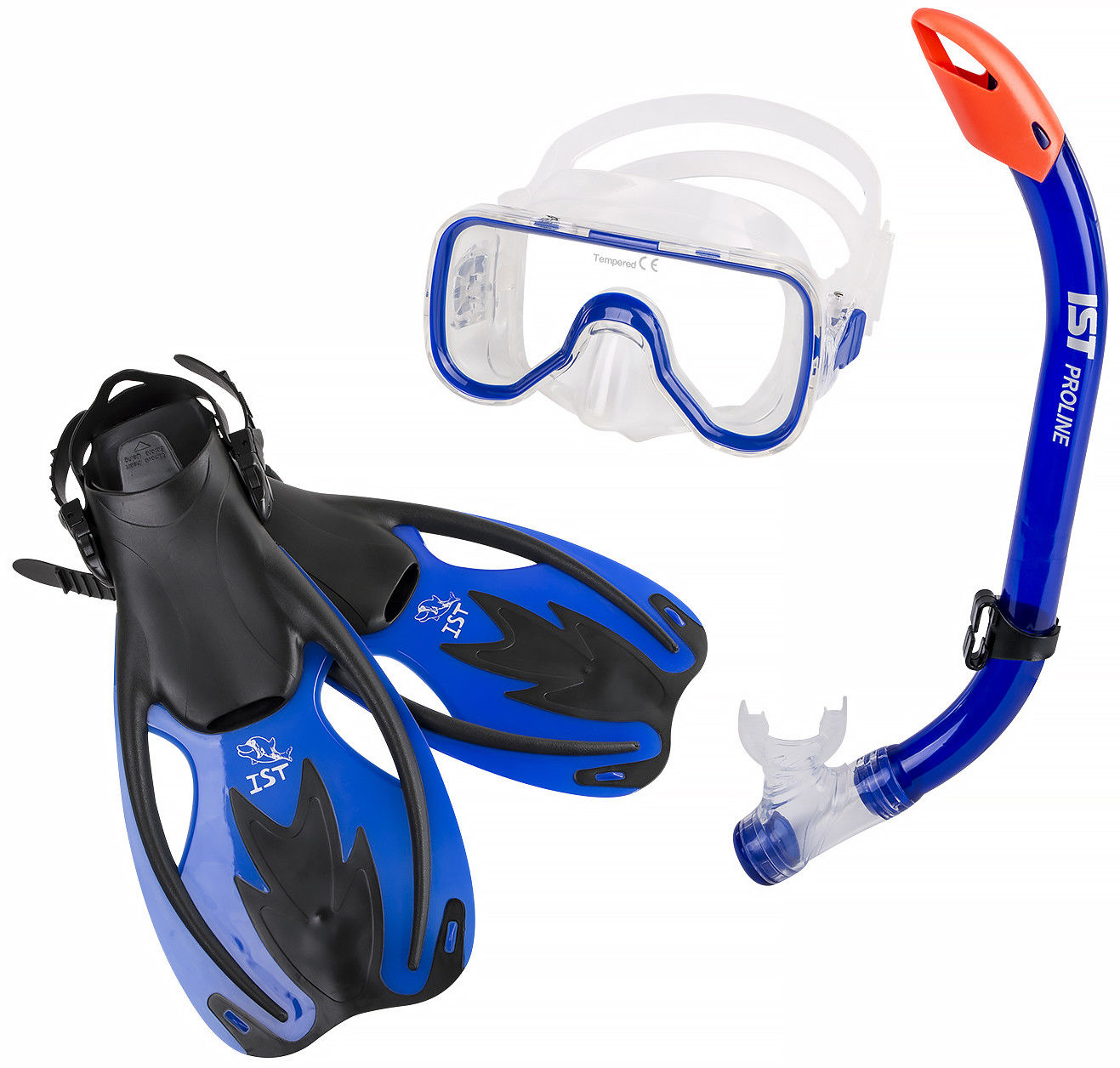 IST CF710809 Kid's Lyra Mask And Purge Snorkel With Fins