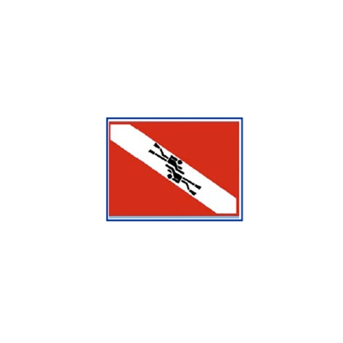 Trident Dive Flag Divers Sticker