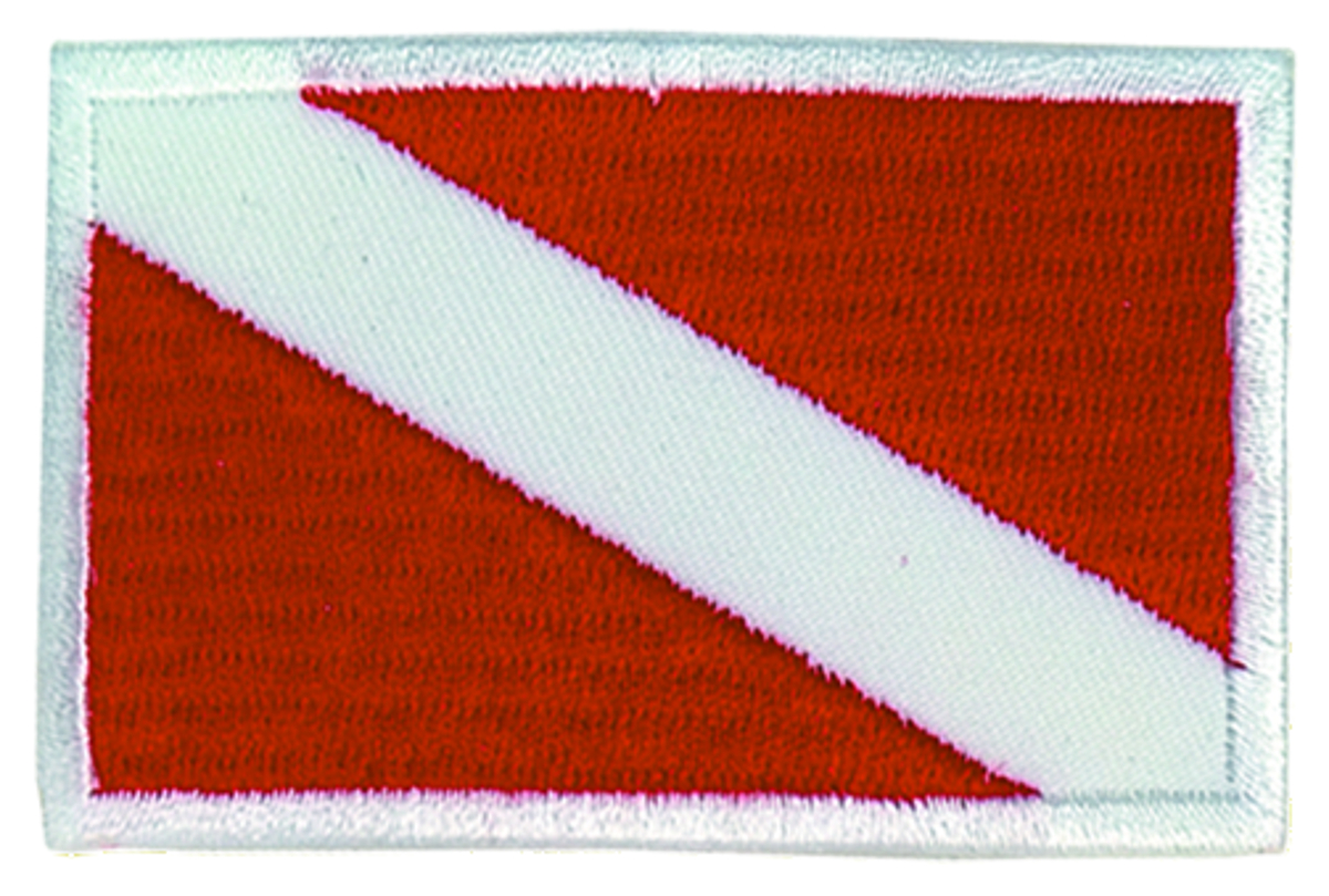 Innovative Embroidered Small Dive Flag Patch