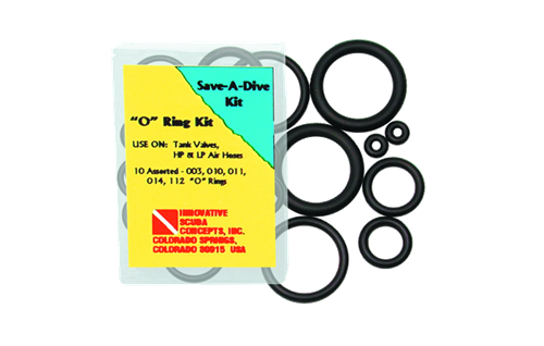 Innovative Save-A-Dive 10 Piece Buna Rubber O-Ring Kit