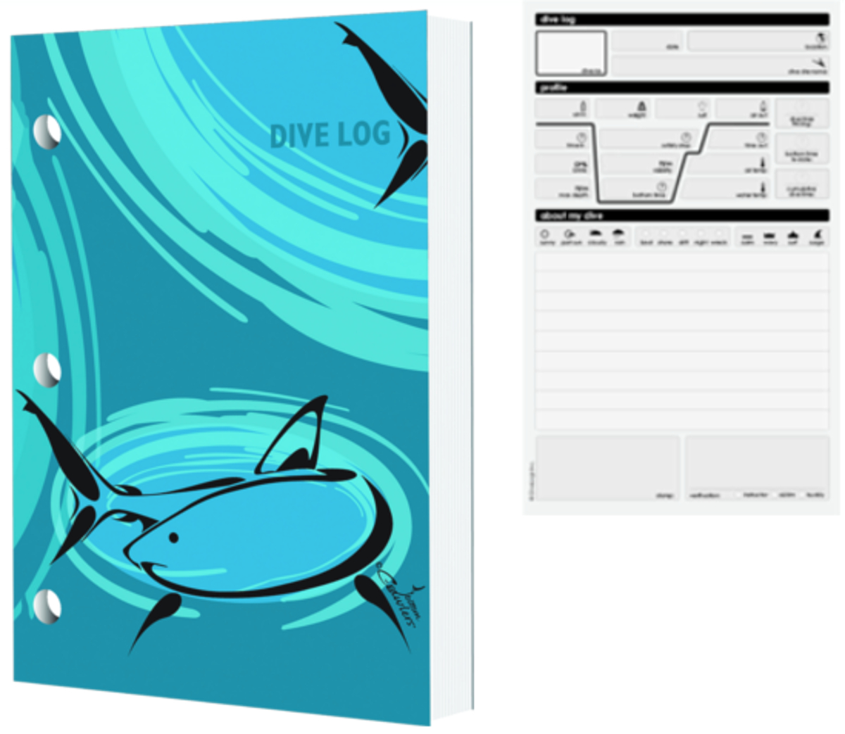 Dive Logz Tribal Shark Logbook