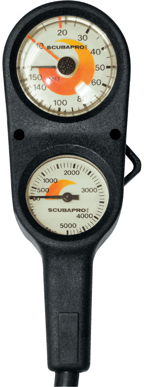 ScubaPro Depth And Pressure 2 Gauge Console-Imperial