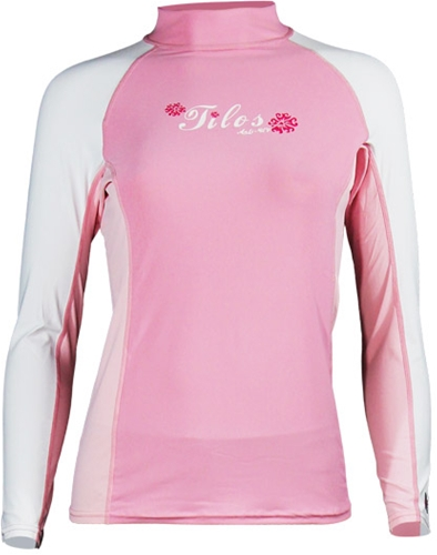 Tilos Women's Long Sleeve Form Fitting 6oz Anti-UV Rash Guard