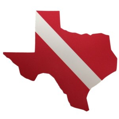 Trident Large Texas State Dive Flag Sticker