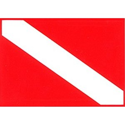Trident Medium 5.5 x 7 Dive Flag Sticker