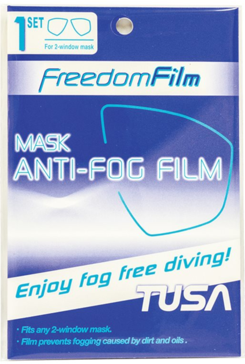 TUSA Mask Anti-Fog Film Pair for 2-Window Mask