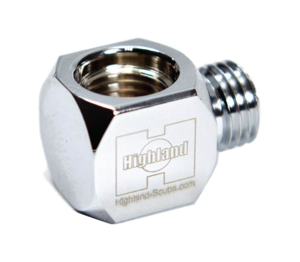 XS Scuba Highland 90 Degree Gauge Adapter