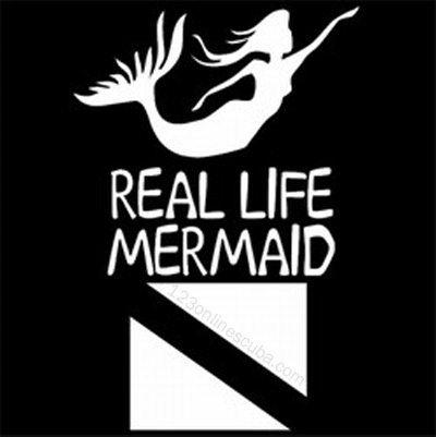 8in Mermaid Dive Flag Die-Cut Window Decal