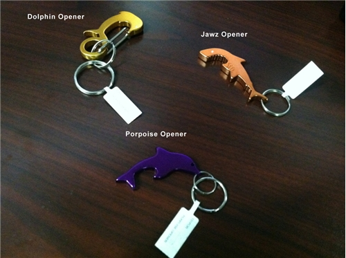 Porpoise Key Chain Aquatic Shape Bottle Openers