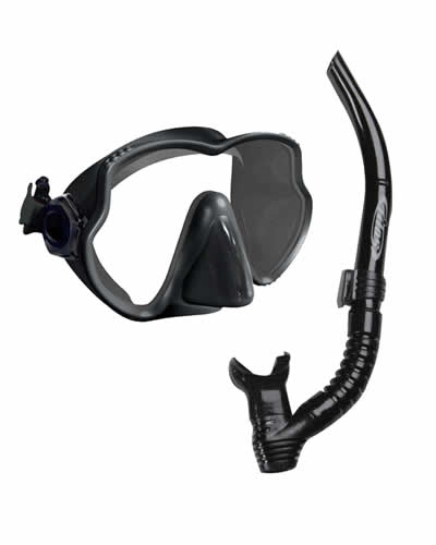 Tilos Excel Framless Single Lens Mask Plus Snorkel
