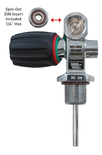 XS Scuba High Pressure 3442 psi Cylinder Pro Valve