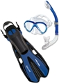HEAD by Mares Adult Marlin Mask, Snorkel and Fin Set