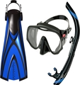 Atomic Pro Package - X1 Open Heel Blade Fin, SV1 Snorkel and Frameless Mask