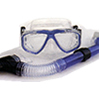 Oceanways Caribbean 2 Window Mask Wave Guard Snorkel Set