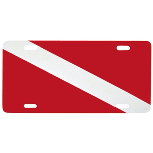 Innovative Dive Flag Metal License Plate