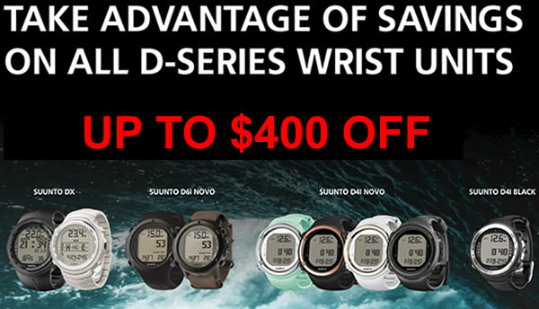 Up to $400 Off Suunto D4 Series