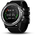 Garmin Silver Sapphire Descent Mk1 with Black Band
