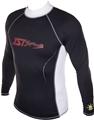 IST UV Protective Factor 400 Spandex Rash Guard - Black
