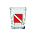 Innovative Scuba Pewter Enameled Dive Flag Shot Glass