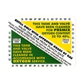 Nitrox Clean Tank & Valve Inspection Certification Sticker VIP