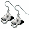 Sterling Silver Stingray Earrings