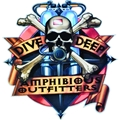 Innovative Amphibious Outfitters Dive Deep Die Cut Sticker