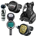 Cressi R1 BCD Reg and Computer Scuba Gear Package
