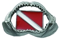 Innovative Shark Jaw  Pewter Pin
