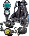 Cressi Travelight BCD Regulator Dive Computer and Reg Bag Package