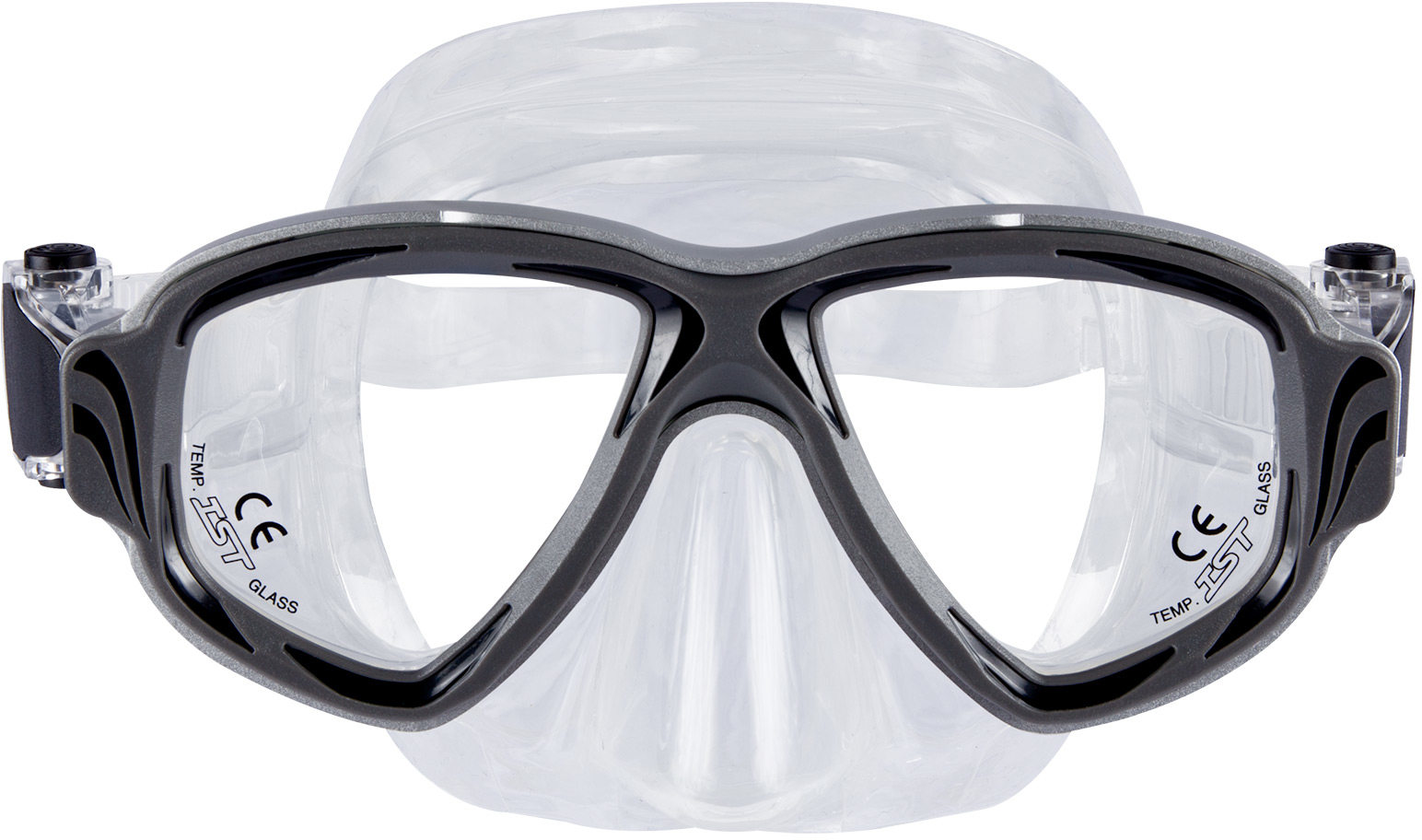 IST Synthesis Aluminum Two Window Mask - Black
