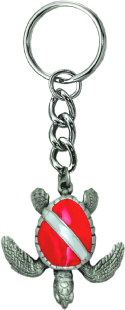 Innovative Turtle With Dive Flag Key chain