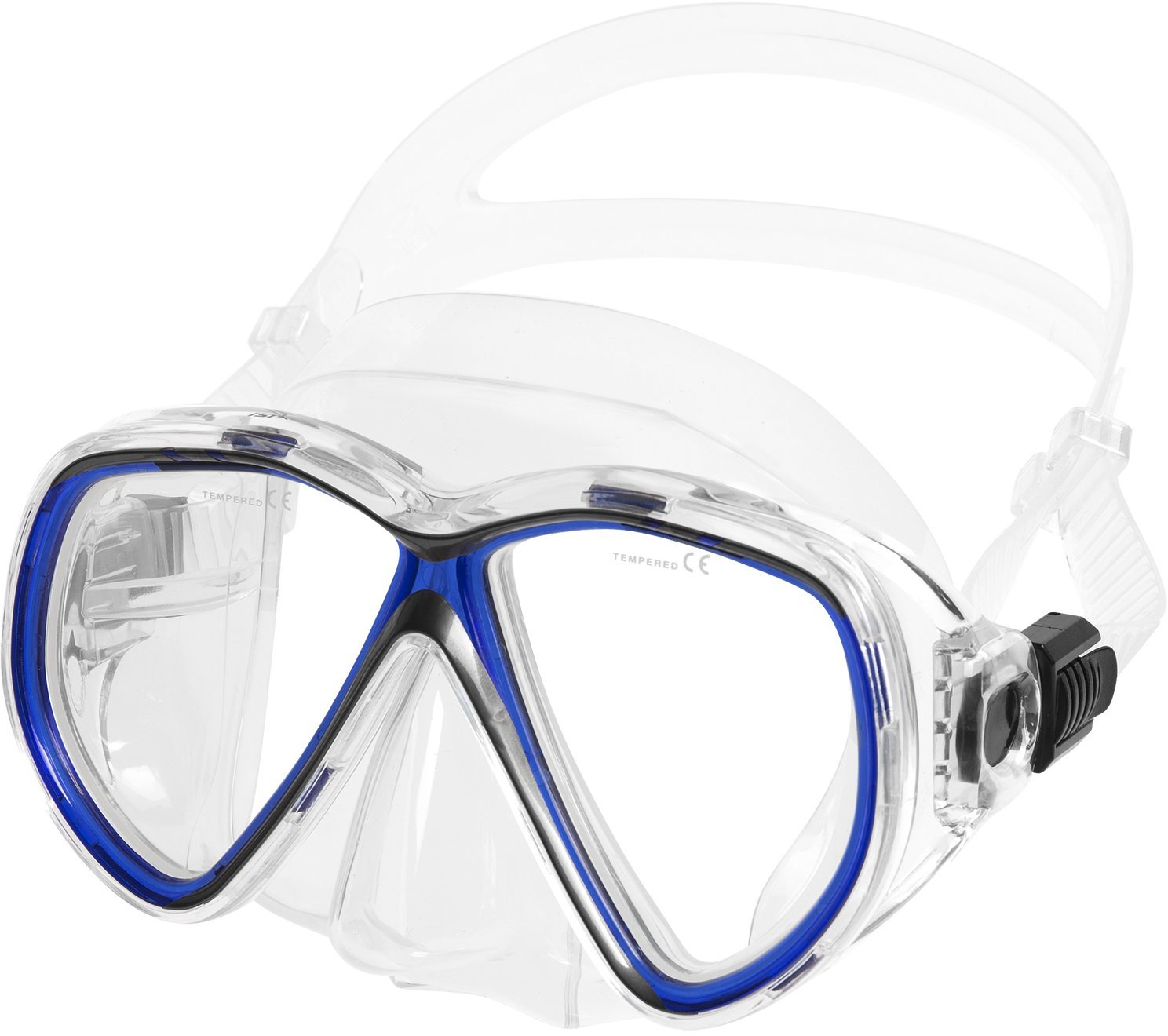 IST Martinique Twin Lens Mask - Clear Blue